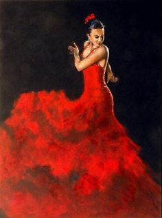 paintings of women in red dresses - Google Search