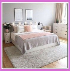 43 beautiful shabby chic bedroom ideas for women . - 43 beautiful shabby chic bedroom ideas for women Bedroom ideas 43 beauti - Small Apartment Bedrooms, Pink Bedrooms, Shabby Chic Bedrooms, Small Room Bedroom, Small Bedrooms, Bed Room, Bedroom Décor, Modern Bedroom, Apartment Living