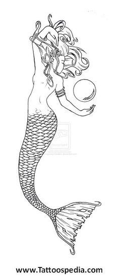 Karyn S Mermaid Tattoo By Roguewyndwalker Mermaids Design Art
