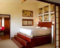 Plattform Betten mit Fächern ausgestattet - Aufbewahrung Ideen - #Schlafzimmer