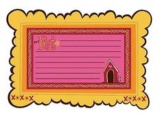 KI Memories DAISY CHIPBOARD FRAMES SET#3 scrapbooking (4) PCS DOG HOUSE