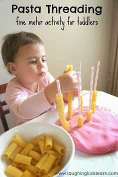10 activities to keep kids busy while you cook dinner - play dough, straws, pasta