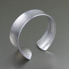 Bark Anticlastic Aluminum Bangle Bracelet   Silver by johnsbrana