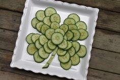 eYe likes food: cucumber shamrock.