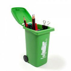 Cadeau insolite Pot à crayons Poubelle - Cadeau pas cher - 30eurosmaxi.com