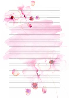 Printable Lined Paper, Free Printable Stationery, Printable Scrapbook Paper, Weekly Planner Template, Illustration Blume, Artsy Photos, Bullet Journal Ideas Pages, Stationery Paper, Note Paper