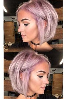 45 Rose Gold Hair Color Ideas for Short Haircuts in 2019 - Best Short Haircuts Hairdos For Short Hair, Cute Short Haircuts, Short Bob Hairstyles, Cool Hairstyles, Hairstyle Ideas, Bob Haircuts, Updos Hairstyle, Hairstyles 2016, Bouffant Hairstyles