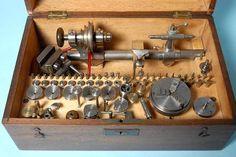 Wolf Jahn Frankfurt 6 mm Watchmaker's Lathe Very Complete Set in Wooden Case | eBay