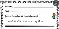 #dislexia Separamos palabras en las siguientes oraciones