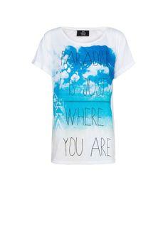 MANGO - NEW - T-shirt plage avec texte