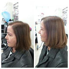 Queria aumentar a quantidade de cabelo.  Solução: colocar extensão. E ainda coloquei da cor das mechas. Assim jâ dei uma clareada no cabelo.