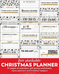 Free Printable Christmas Planner - Everything you need to stay organized for the holidays, from calendars and to-do lists, to budget and gift trackers to meal and Christmas party planning, this printable planner has got it all! Christmas Planner Free, Christmas Shopping List, Christmas Gift List, Holiday Planner, Christmas Planning, Free Christmas Printables, Free Printables, Christmas Ideas, Christmas To Do List