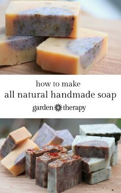 Lemongrass Ginger Coffee Kitchen Soap, Rosemary Spearmint Energizing Shower Soap, and an Orange Vanilla Cinnamon Holiday Soap recipes