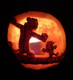 Calvin and Hobbes pumpkin carving…