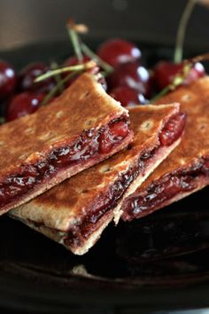 Grilled Chocolate and Cherries -- This is YUMMY.  If you are a Weight Watchers fan, this is 5pp and worth every one.