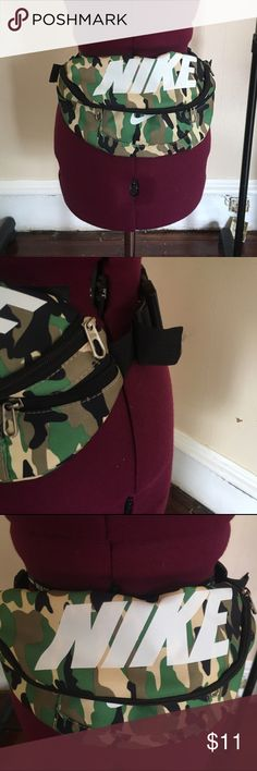 Nike camo fanny pack It was ridiculously huge so I took off some of the strap on…