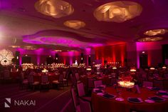 Chicago Wedding Photo at Intercontinental Ohare! Red, pink, gold, candles. Indian/Pakistani Wedding Photo by Nakai Photography http://www.nakaiphotography.com