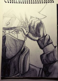 Kakashi, sharingan. Pencil drawing