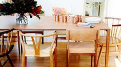 Mismatched chair in dining room, comedor con sillas desiguales | Casa Haus