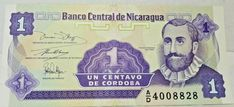 Central Bank of Nicaragua 1 cent of Cordoba 1991 AD Old Rare Paper Money 4008828 Gold Deposit, Money Bill, Central Bank, 5 Cents, Banknote, Note Paper, Alarm Clock, Cordoba, Banks