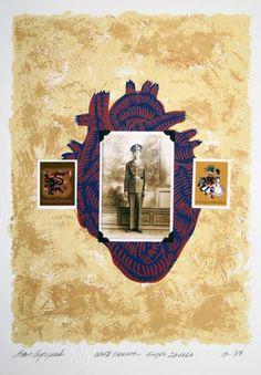 Sam Coronado,  Angel Zavala,  Mixed Media, #LatinoArt #MexicanAmericanArt #serigraphy #printmaking