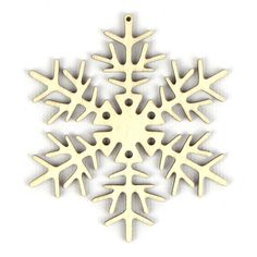 Lacy Flake - Laser Cut Wood Snowflake in Multiple Sizes and Quantity Discounts