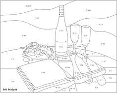 """Vine History pattern by Bill Blodgett.Pattern is 20"""" wide x 16"""" high"""