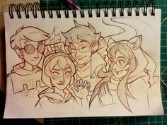 "Not the ""actual"" piece for 4/13 but in the meantime have some sketchbook fun. Happy Homestuck, guys."