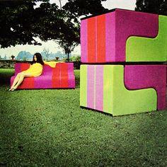 "Superstudio, ""Solo"" modular seating, Poltronova, 1969"