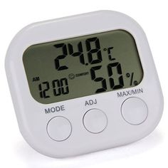 New 2016 Weather Station LCD Digital Thermometer Hygrometer Temperature Humidity Meter Gauge With Clock