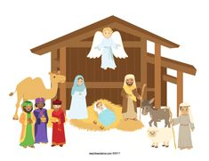 Nativity Characters, Christmas Nativity, Christmas Ideas, Sunday School Activities, Build Your Own, Super Cute, Printables, Black And White, Building