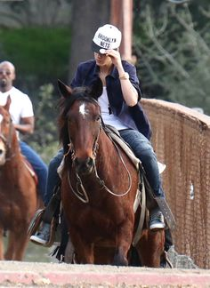 "JB on a horse!!(: cute and all, but just please stick to your ""swagger"" jb!<3"