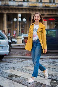 Paris Fashion Week FW 2016 Street Style: Andreea Diaconu