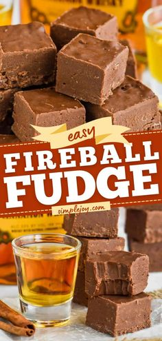 This easy fudge recipe is one of the best! This no-bake dessert is perfect for holidays or anytime. Thanks to Fireball Whiskey, this chocolate dessert idea has great flavor. Everyone will love this… Easy Baking Recipes, Fudge Recipes, Best Dessert Recipes, Candy Recipes, Fun Desserts, Delicious Desserts, Snack Recipes, Simple Recipes, Dip Recipes