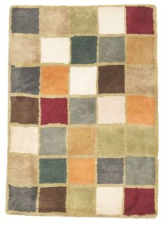 2' x 3' Modern Multi Color Wool Small Rug by Rug Shop and More