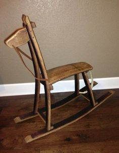Children's Rocking Horse made from recycled wine by Wood2point0, $425.00