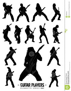 Guitar Players Silhouette Series One Stock Images - Image: 8086494