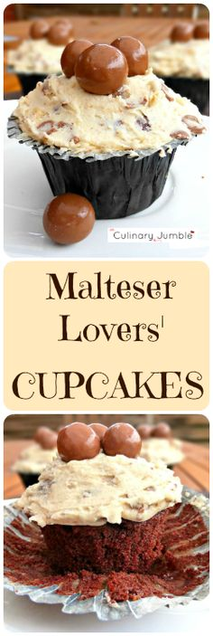 Everyone loves a cupcake, am I right? Chocolate is my go-to flavour, made all the tastier with tons of malty Maltesers thrown in for good measure and lashings of rich frosting!