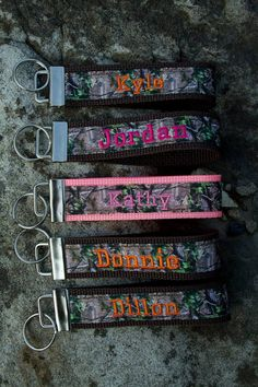 Personalized Real Tree Camo Key Fob Keychain by CotulaCreations, $7.99