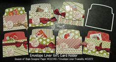 www.PattyStamps.com - EASIEST DIY Gift Card Holder ever!  Use 2 Envelope Liner die cuts from Stampin' Up! and embellish with ribbon and a stamp!