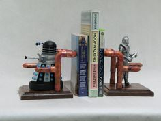 Dr. Who bookends by FlamingSteam on Etsy, $100.00