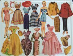 Muñecas de papel de Faye Emerson 1952