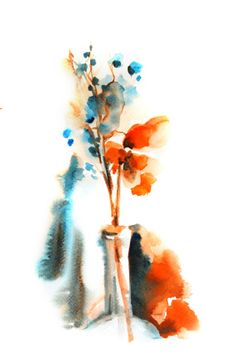 Watercolor Print from Original Watercolor Painting by SophieRR, $17.00