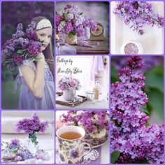 What a beautiful Lavender Collage! What a perfect setting for enjoying a cup of tea and the peace and serenity of the garden! Purple Lilac, Shades Of Purple, Purple Flowers, Beautiful Collage, Beautiful Flowers, Collages, Happy Sunday Quotes, Lavender Cottage, Mood Colors