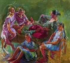 Anton Kolig (Austrian, The Artist's Family, Oil on canvas Paula Modersohn Becker, Anton, Paul Cezanne, Henri Matisse, Ludwig Meidner, Digital Museum, Creative Skills, Colorful Paintings, Figurative Art
