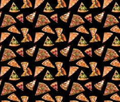 Pizza Slices fabric by kateyblaire on Spoonflower - custom fabric