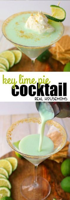 If you love the classic Key Lime Pie dessert, then this Key Lime Pie Cocktail is definitely for you! via @realhousemoms