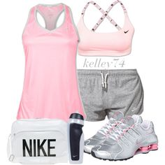A fashion look from April 2013 featuring NIKE activewear tops, NIKE activewear shorts and NIKE sports bras. Browse and shop related looks.