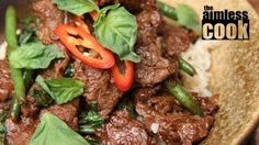 Thai Beef And Basil Stirfry Thai Cooking