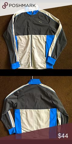 PUMA MENS TRACK JACKET M MENS MEDIUM BLUE TRACK JACKET. WORN A FEW TIMES Puma Jackets & Coats